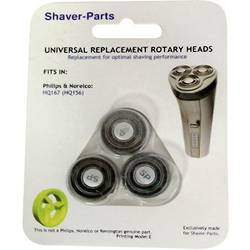 Rakhuvud Shaver-Parts für Philips HQ 167, HQ 156 Svart 1 set
