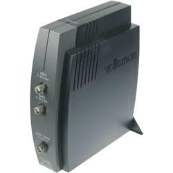 Kal. DAkkS USB-osciloskop Velleman PCSU1000 60 MHz 2-kanalni 50 MSa/s 4 kpts 8 Bit kalibracija narejena po DAkkS digitalni pomni