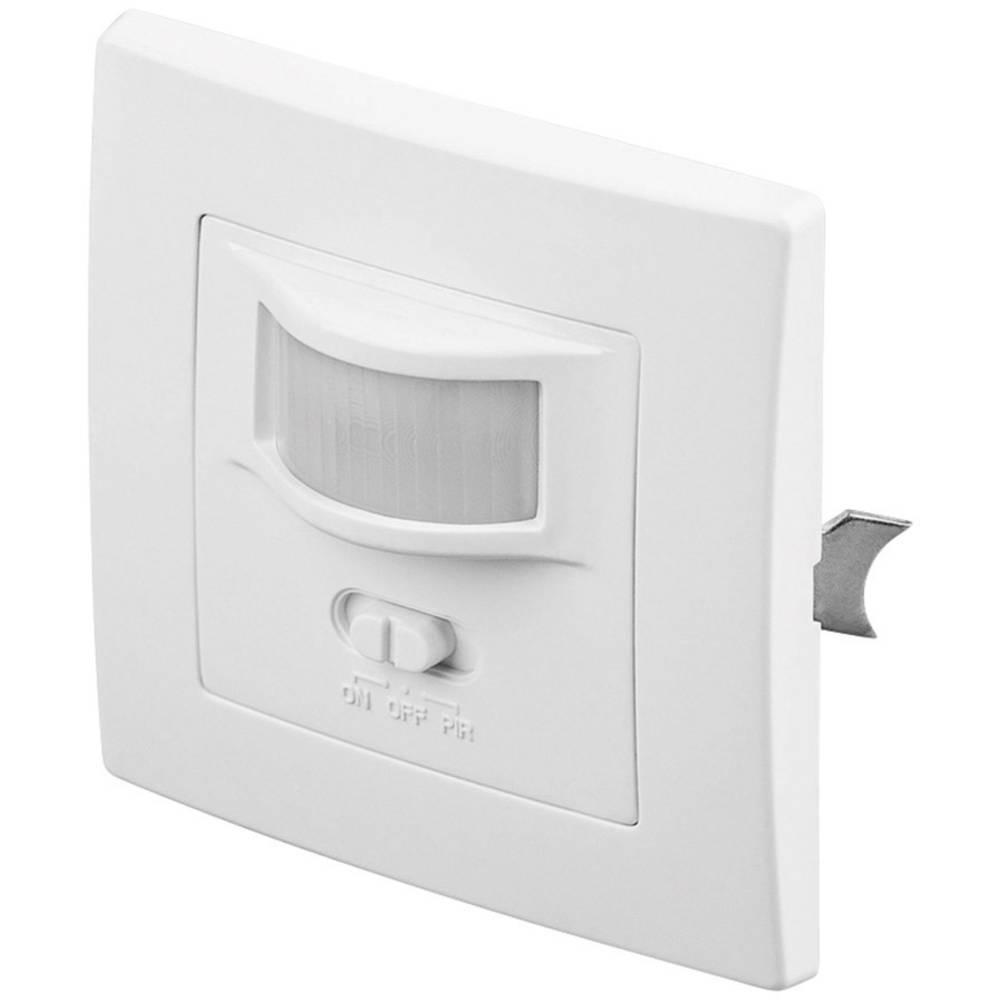 Podometni infrardeči detektor gibanja Goobay, bele barve, kot zajemanja 160°, stikalni kontakt: rele, IP20, 96005