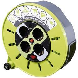 Kabelski boben Goobay, 8 m, vtikač z varnostnim kontaktom, zelene barve, 51266