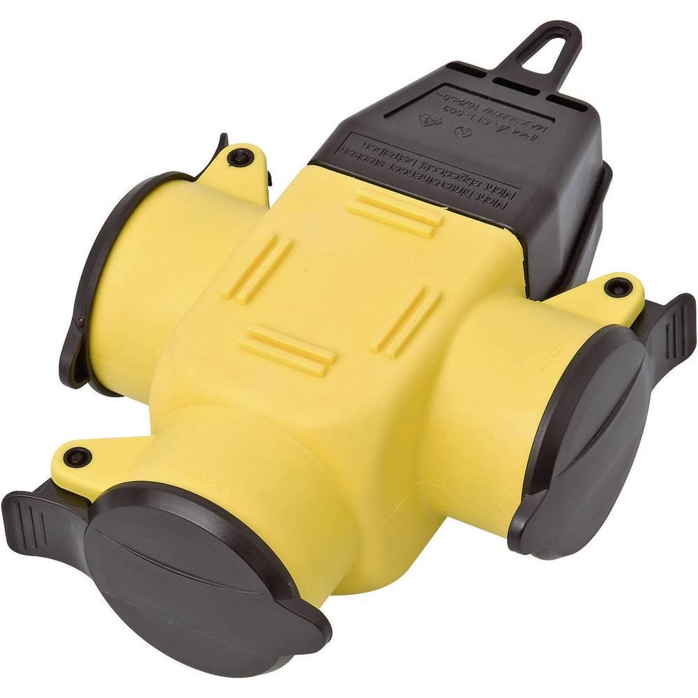 Trostruka gumena spojnica 9007-006.01 interBär 230 V žuta, crna IP44