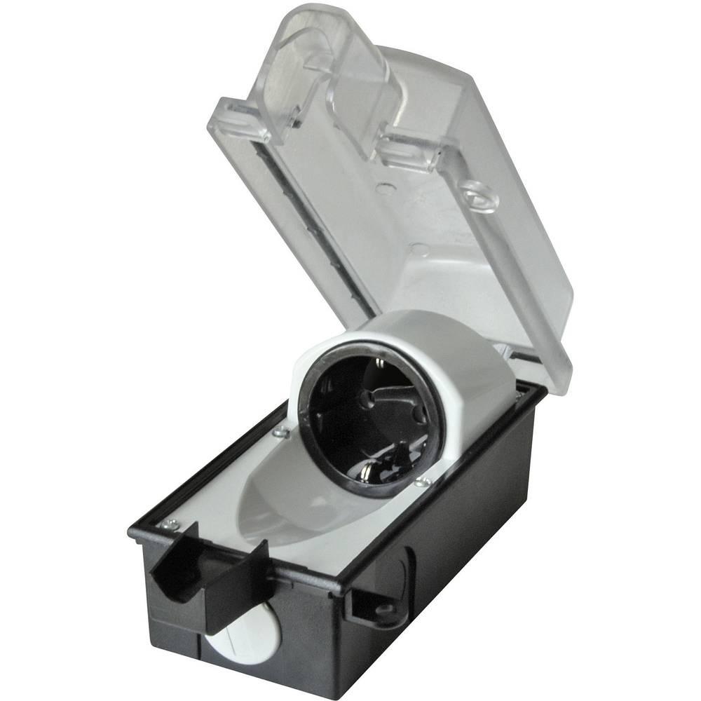 Zunanja vtičnica z možnostjo zaklepanja 9015-001.01 črne barve, prozorna interBär