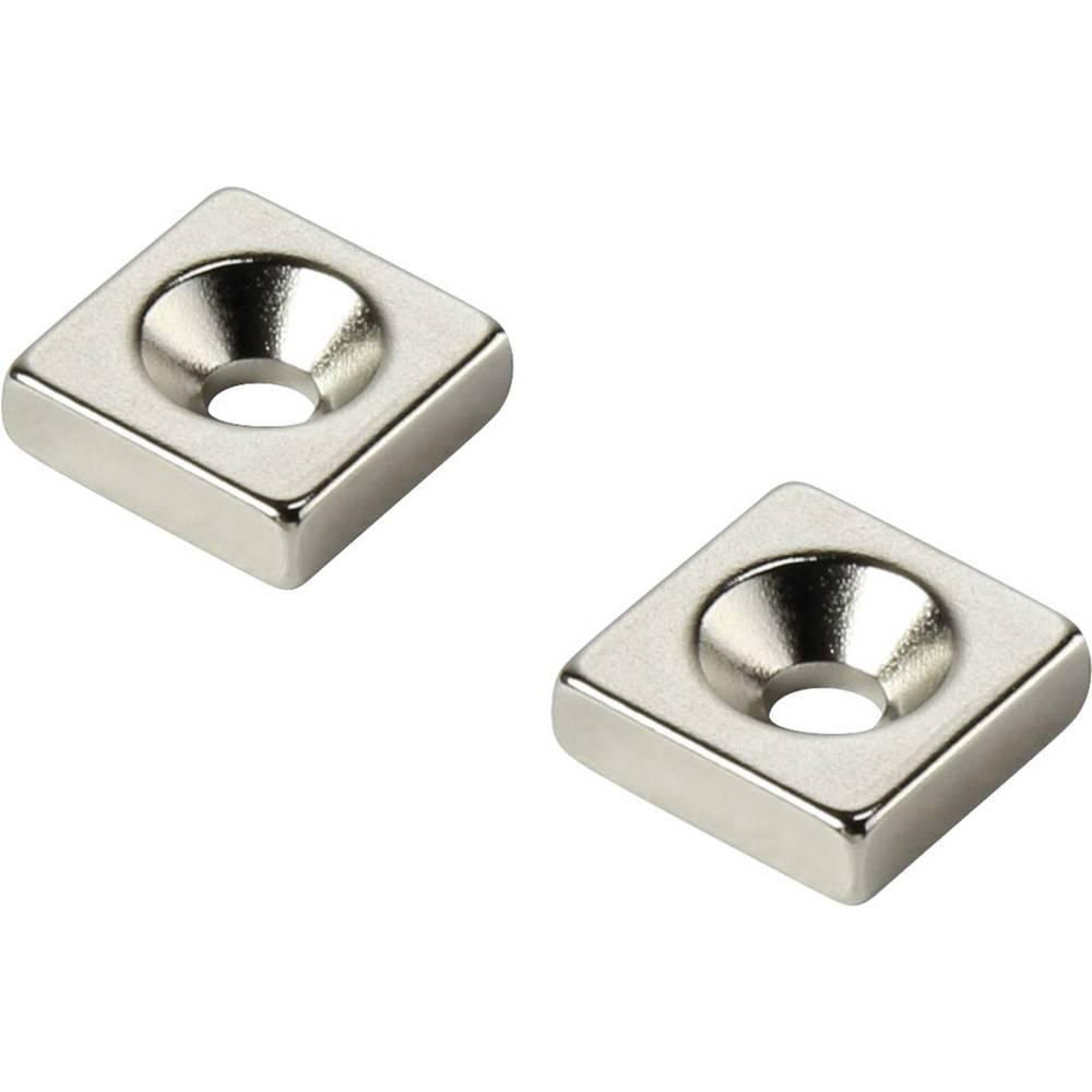 Stalni magnet , pravokotni N35 mejna temperatura (maks.): 80 °C W15L15T5-M4