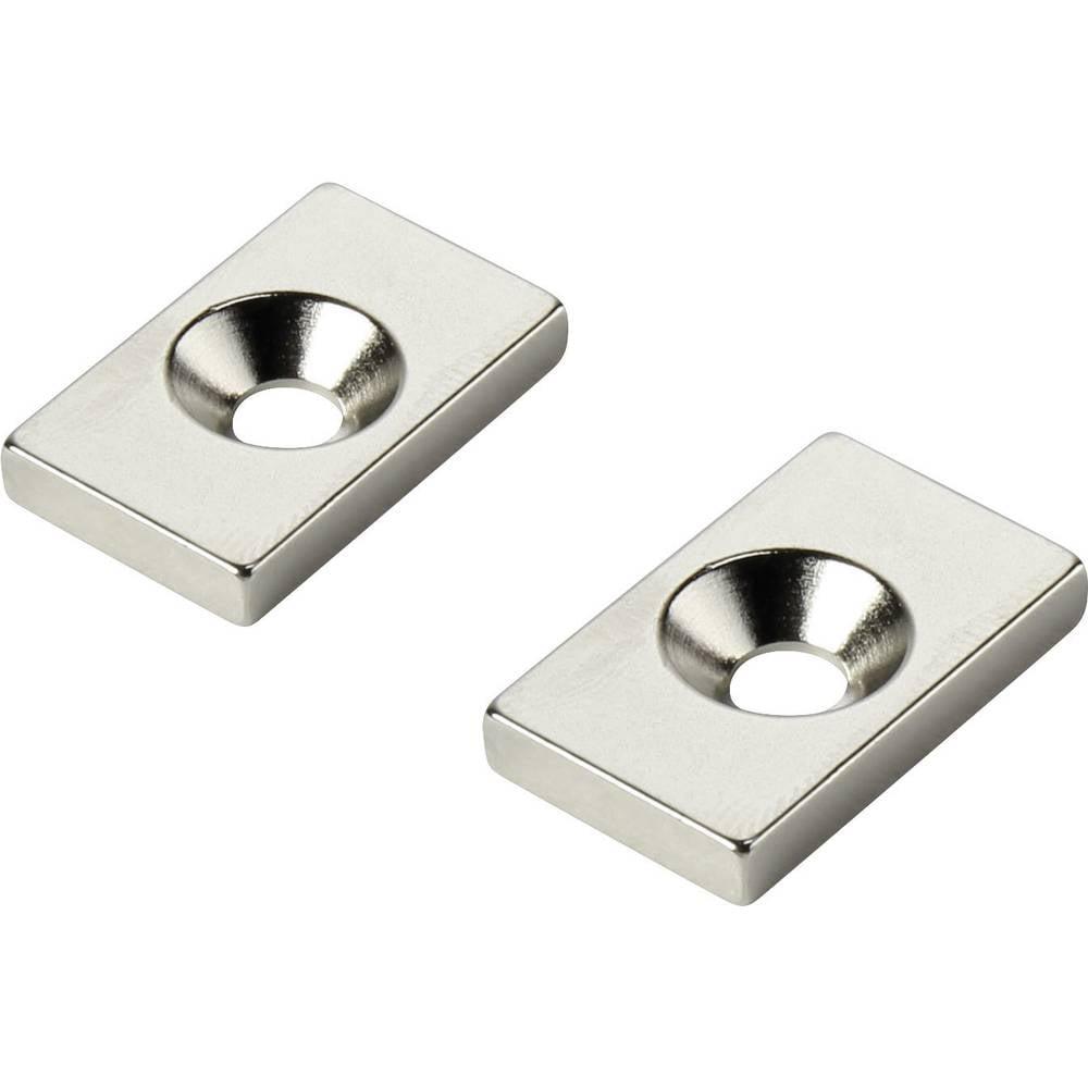 Stalni magnet , pravokotni N35 mejna temperatura (maks.): 80 °C W20L12T3-M4