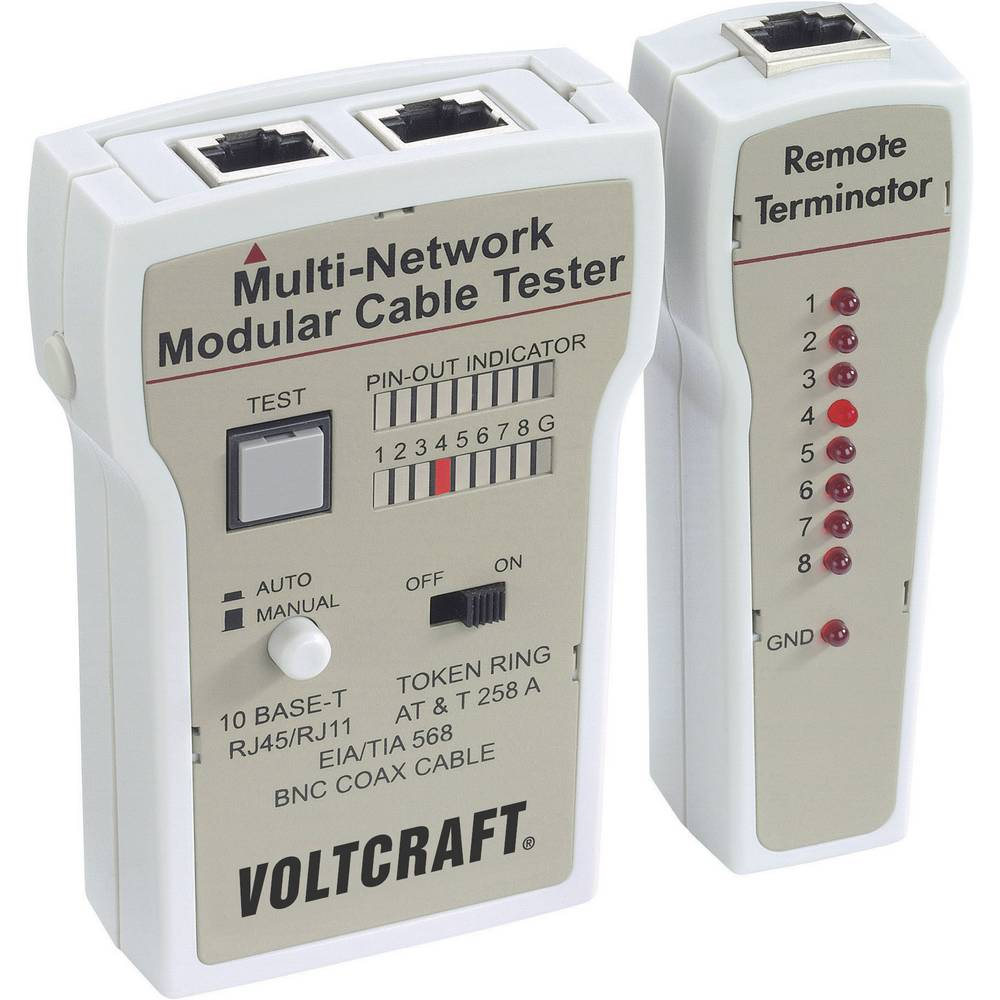 VOLTCRAFT CT-2 tester za kable za BNC, RJ-11 in RJ-45