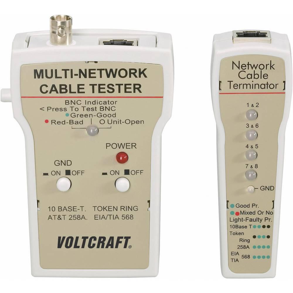 VOLTCRAFT® CT-1 ispitivač strujnih kablova BNC, RJ-45, 10Base-T (UTP/STP), AT&T 258A, TIA 586A/B, Token Ring