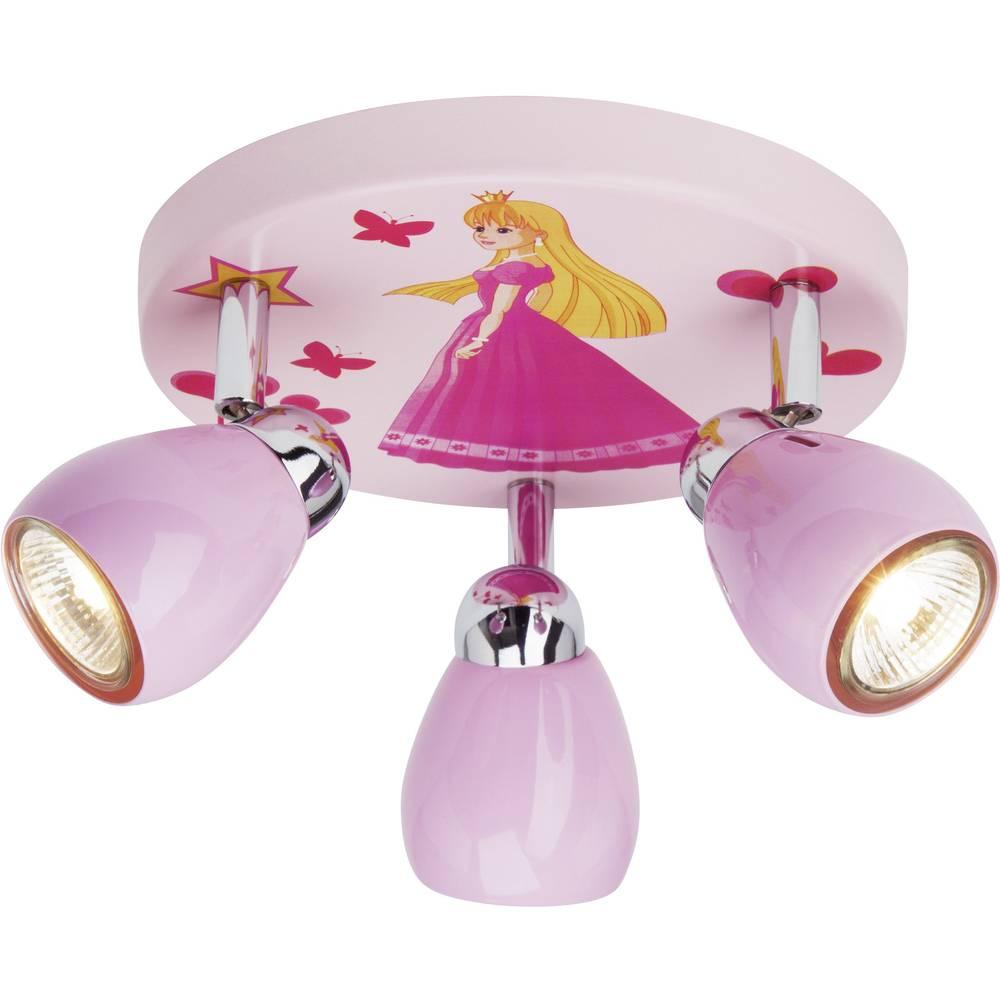 Stropna svjetiljka Princess Brilliant halogena žarulja GU10 50 W ružučasta