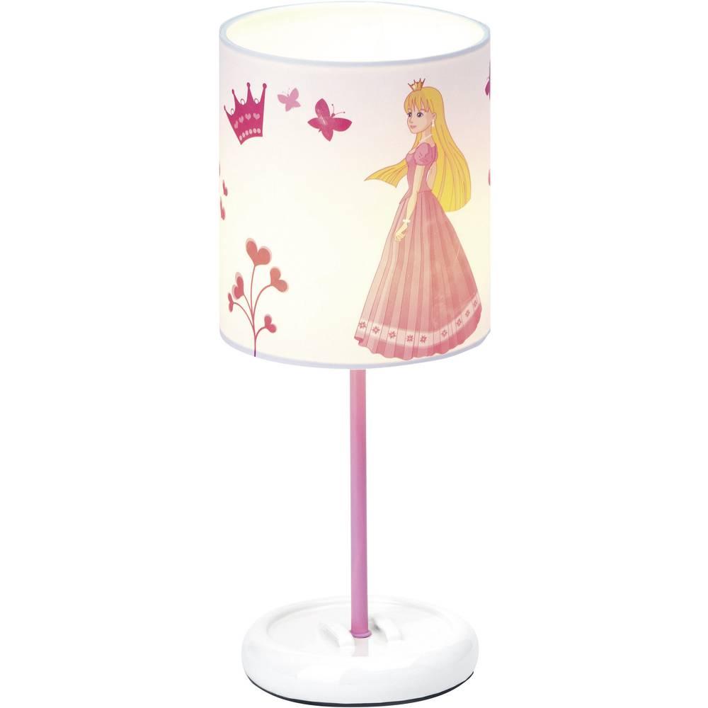 Stolna LED svjetiljka Princeza Brilliant LED čvrsto ugrađena bijela, ružičasta