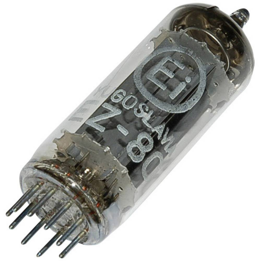 Elektronka EZ 80 = 6 V 4 dvojni usmernik 250 V 90 mA št. polov: 9 podnožje: novalno
