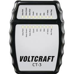 VOLTCRAFT CT-3 HDMI-tester za kable, primeren za HDMI-kabel tipa A, HDMI 1.0, 1.1, 1.2, 1.2a, 1.3a/b/c, 1.4/a