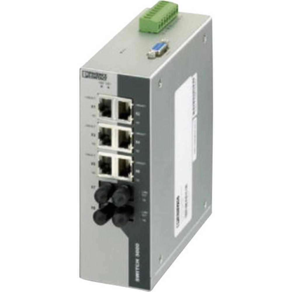 Industrijski eternetski preklopnik Phoenix Contact FL SWITCH 3006T-2FX ST 10 / 100 Mbit/s