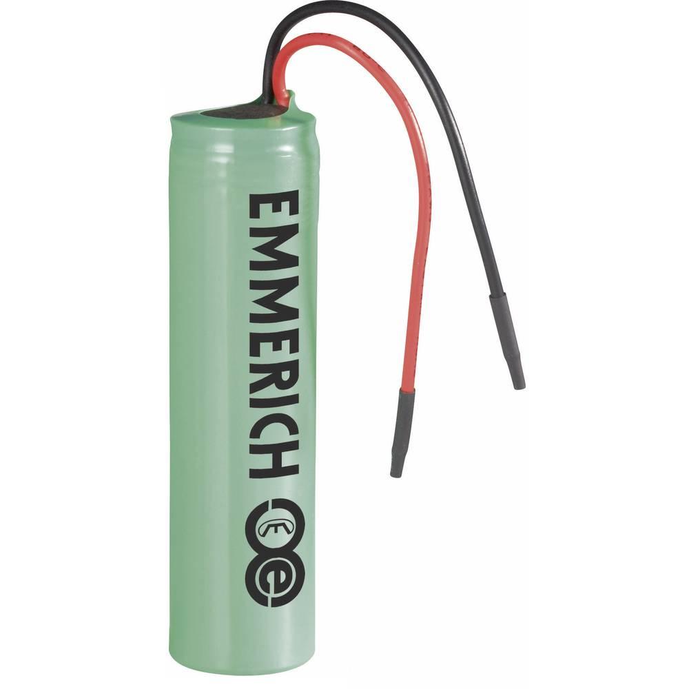 Emmerich Li-Ion-akumulator 14500 s kabelom 3.7 V 800 mAh ( x V) 14 mm x 50 mm