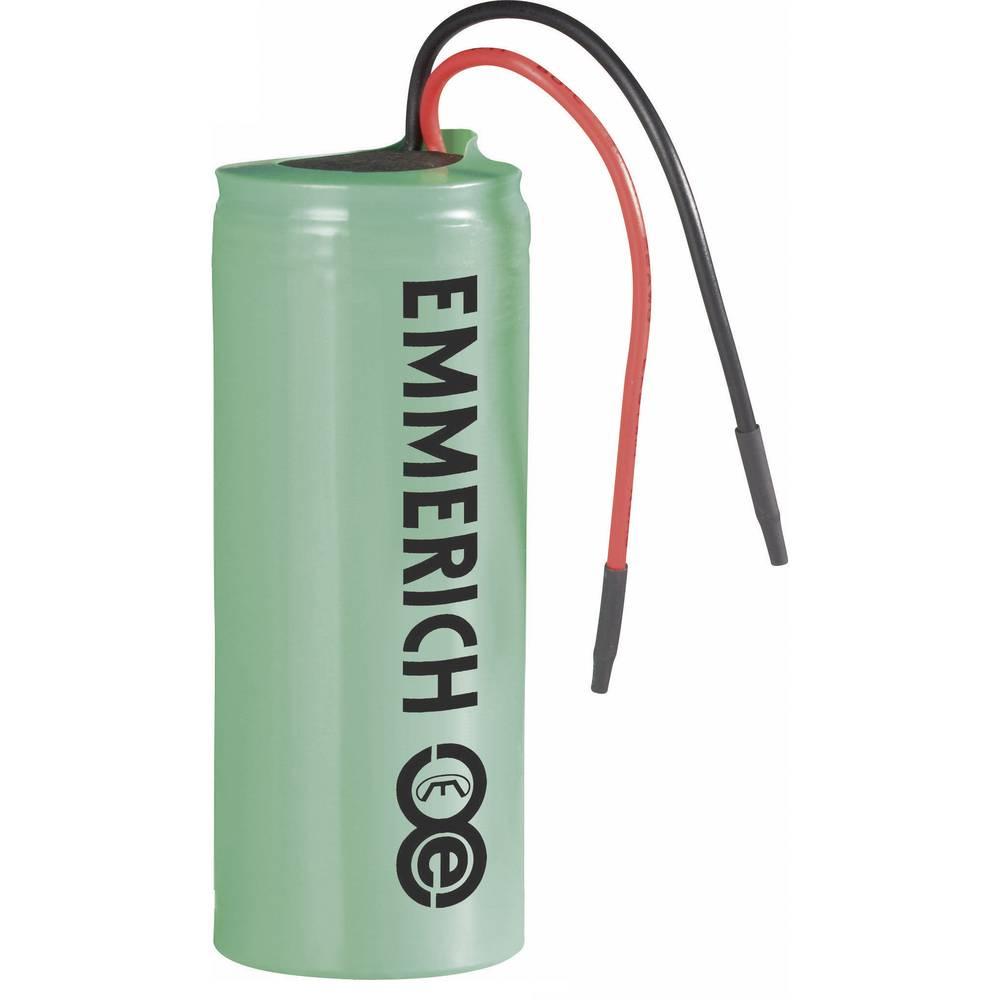 Emmerich Li-Ion-akumulator 26650 s kabelom 3.7 V 4500 mAh ( x V) 27 mm x 70 mm