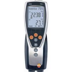 Mjerač temperature testo 735-2 -200 do +1370 °C tip sonde K, Pt100 kalibrirano prema ISO standardu