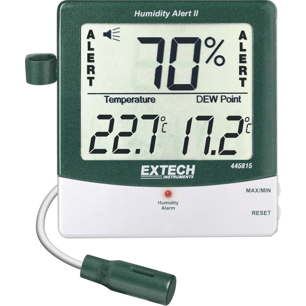 Kal.-ISO Extech 445815 Merilnik vlažnosti zraka/temperature, termo-/higrometer