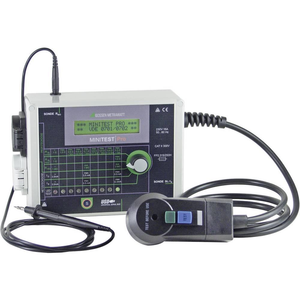 Testirna naprava Gossen Metrawatt MINITEST Pro DIN VDE 0701-1: 2000 in DIN VDE 0702: 2004 kalibracija narejena po ISO