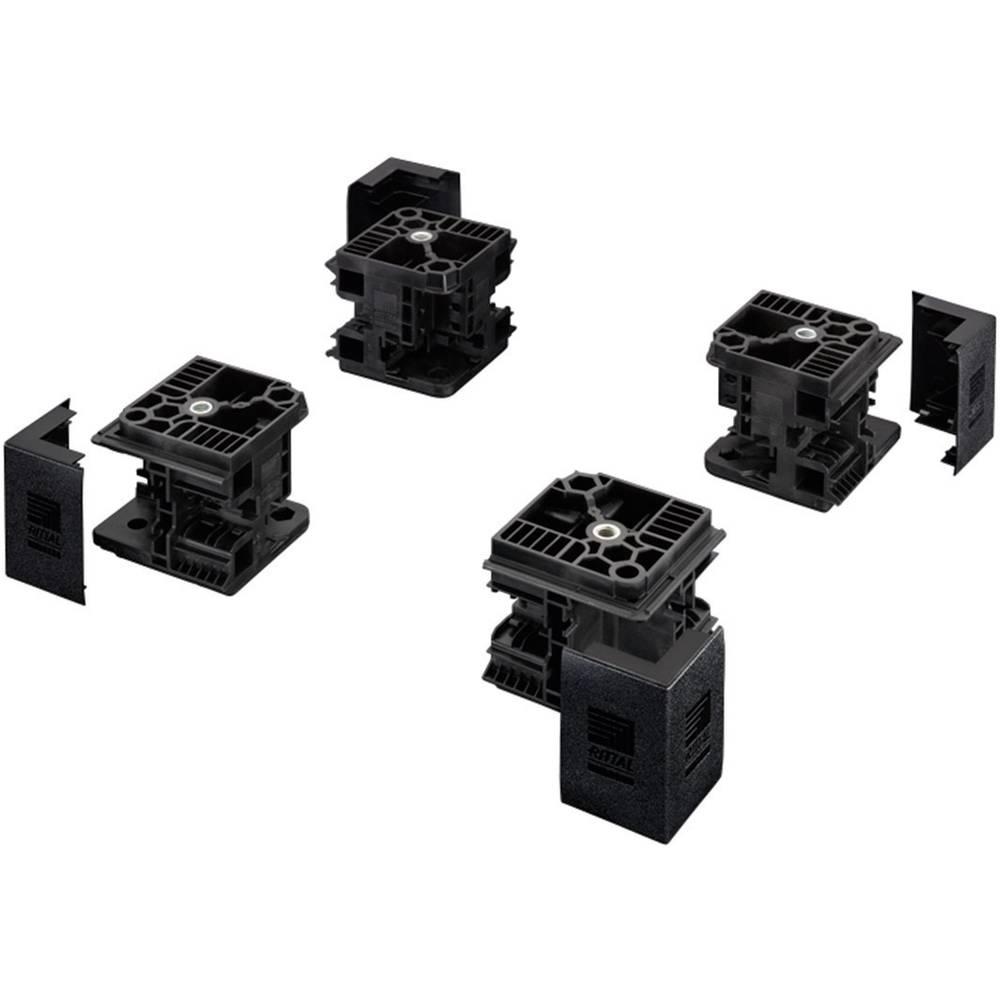 Flex-blok hjørnestykke Rittal TS 8100000 Stålplade Sort (RAL 9005) 4 stk