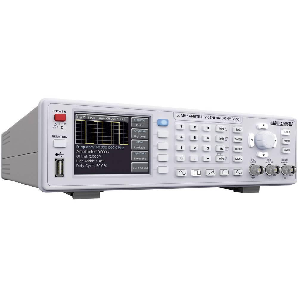 Rohde & Schwarz HMF 2550 arbitrarni funkcijski generator 10 µHz - 50 MHz tip kanala 1, vmesnik: USB, izhodni signal: