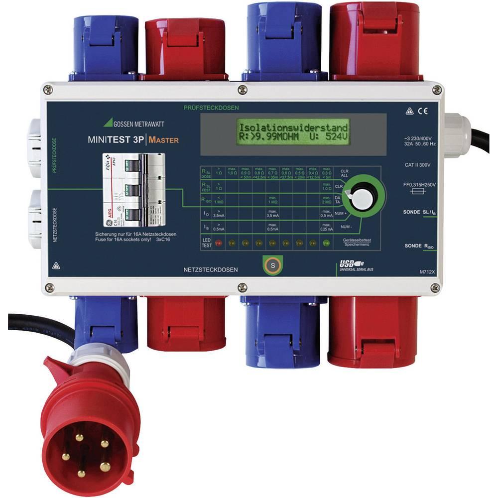 Testirna naprava Gossen Metrawatt MINITEST 3P MASTER DIN VDE 0701-1: 2000 in DIN VDE 0702: 2004