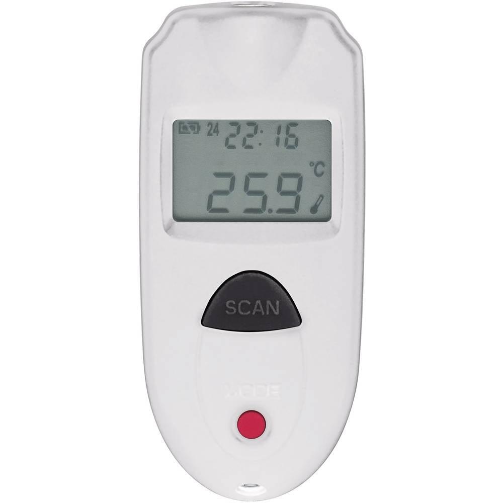 Infrardeči termometer VOLTCRAFT IR 110-1S optika 1:1 -33 do +110 °C pirometer, kalibracija narejena po: delovnih standardih