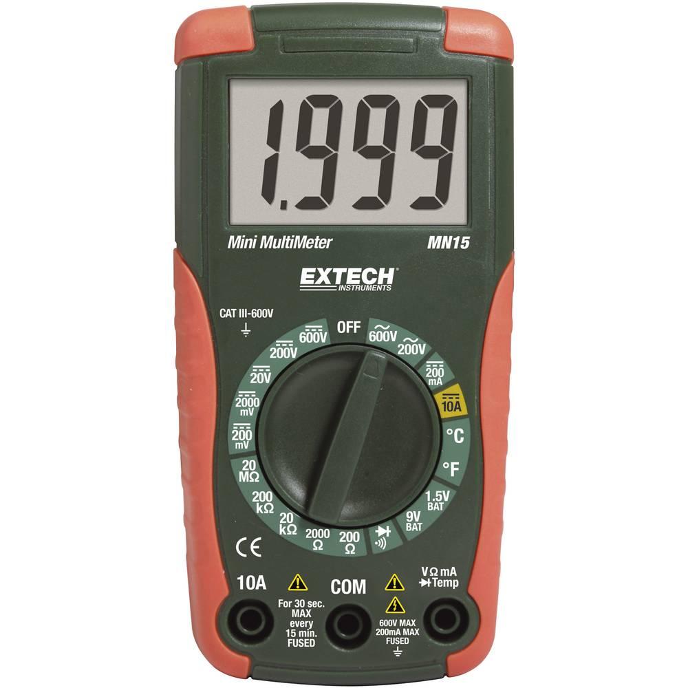 Ročni digitalni multimeter Extech MN15A CAT II 1000 V, CAT III 600 V št. mest na zaslonu: 2000