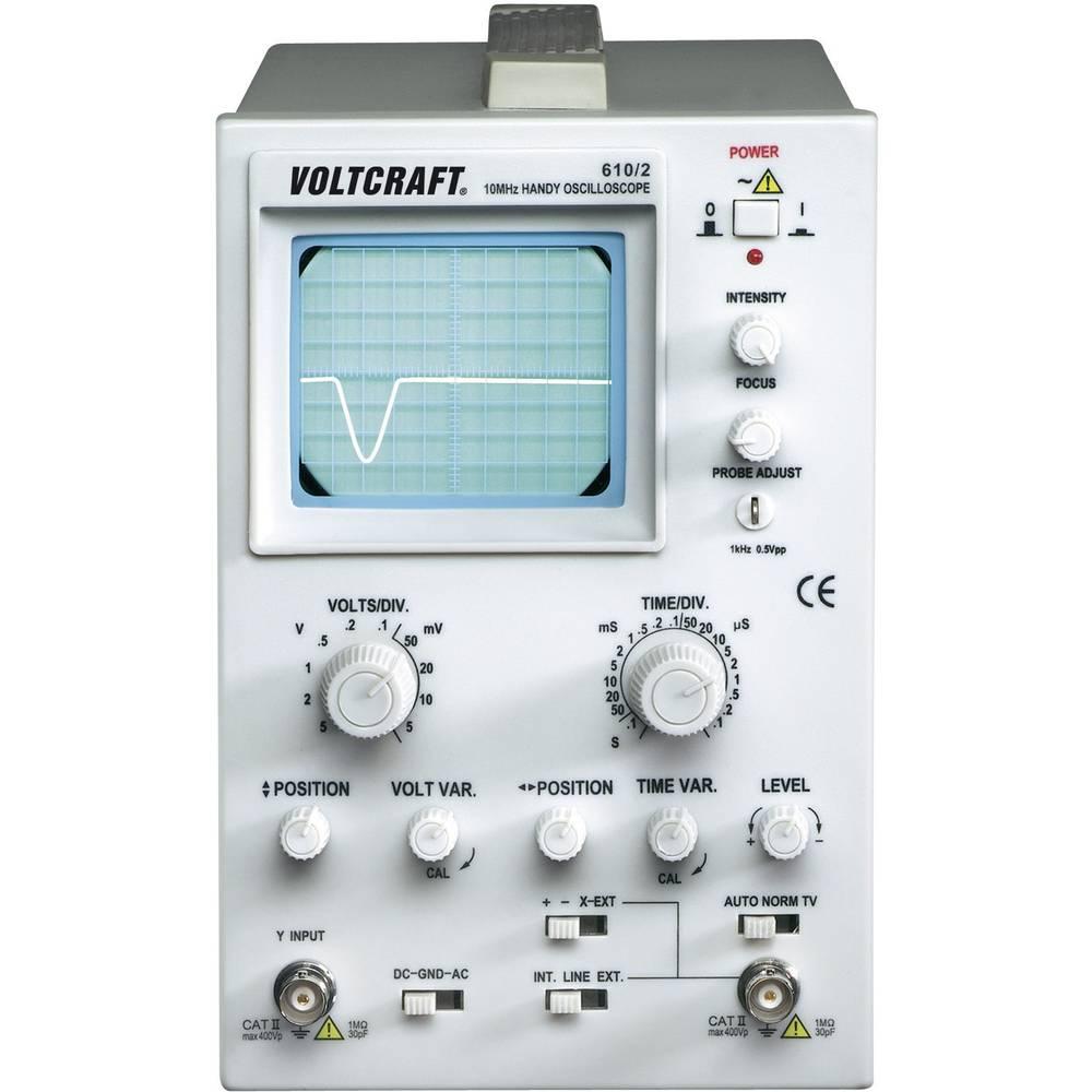 Analogni-osciloskop VOLTCRAFT AO 610 10 MHz 1-kanal