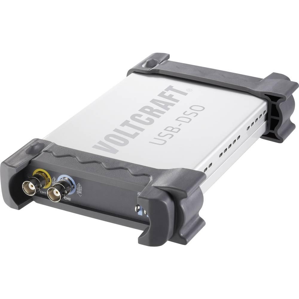 Osciloskop za računalnik VOLTCRAFT DSO-2020 USB 20 MHz 2-kanala 48 MSa/s 1 Mpts 8 Bit kalibriran po ISO digitalni pomnilnik (DSO