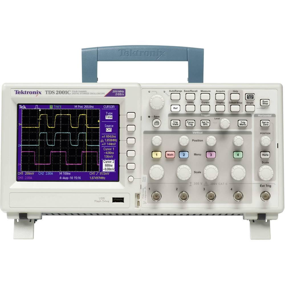 Digitalni osciloskop Tektronix TDS2001C 50 MHz 2-kanalni 500 MSa/s 2.5 kpts 8 Bit digitalni pomnilnik (DSO), spektralni analizat