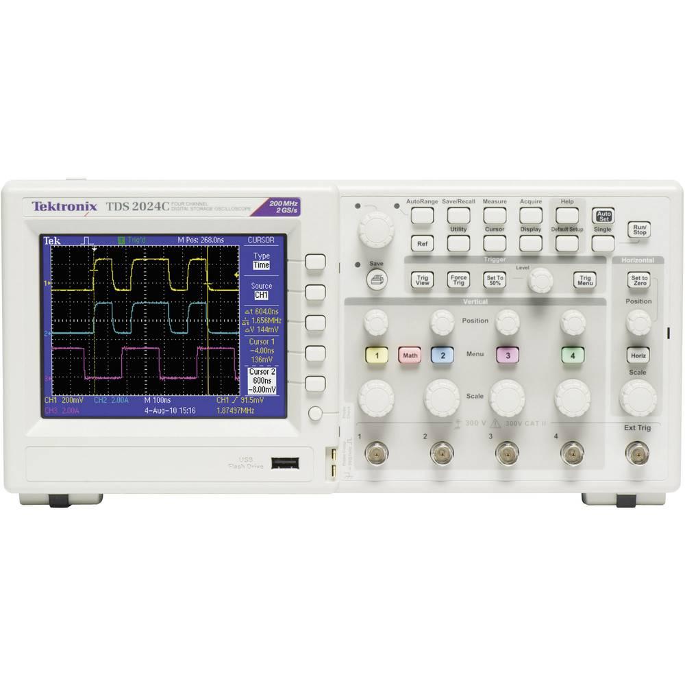 Digitalni osciloskop Tektronix TDS2024C 200 MHz 4-kanalni 2 GSa/s 2.5 kpts 8 Bit digitalni pomnilnik (DSO), spektralni analizato
