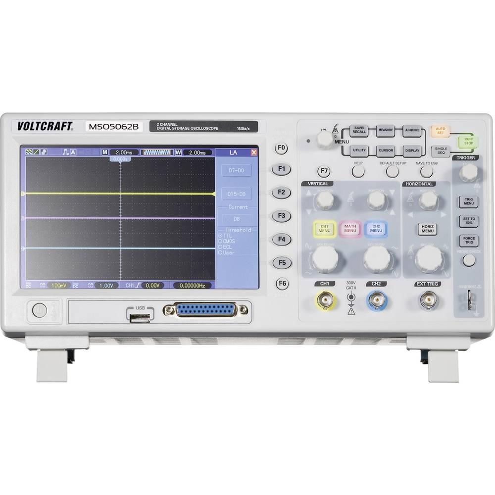 Digitalni osciloskop VOLTCRAFT MSO-5062B 60 MHz 18-kanal 1 GSa/s 512 kpts 8 Bit digitalni pomnilnik (DSO), mešani signal (MSO)