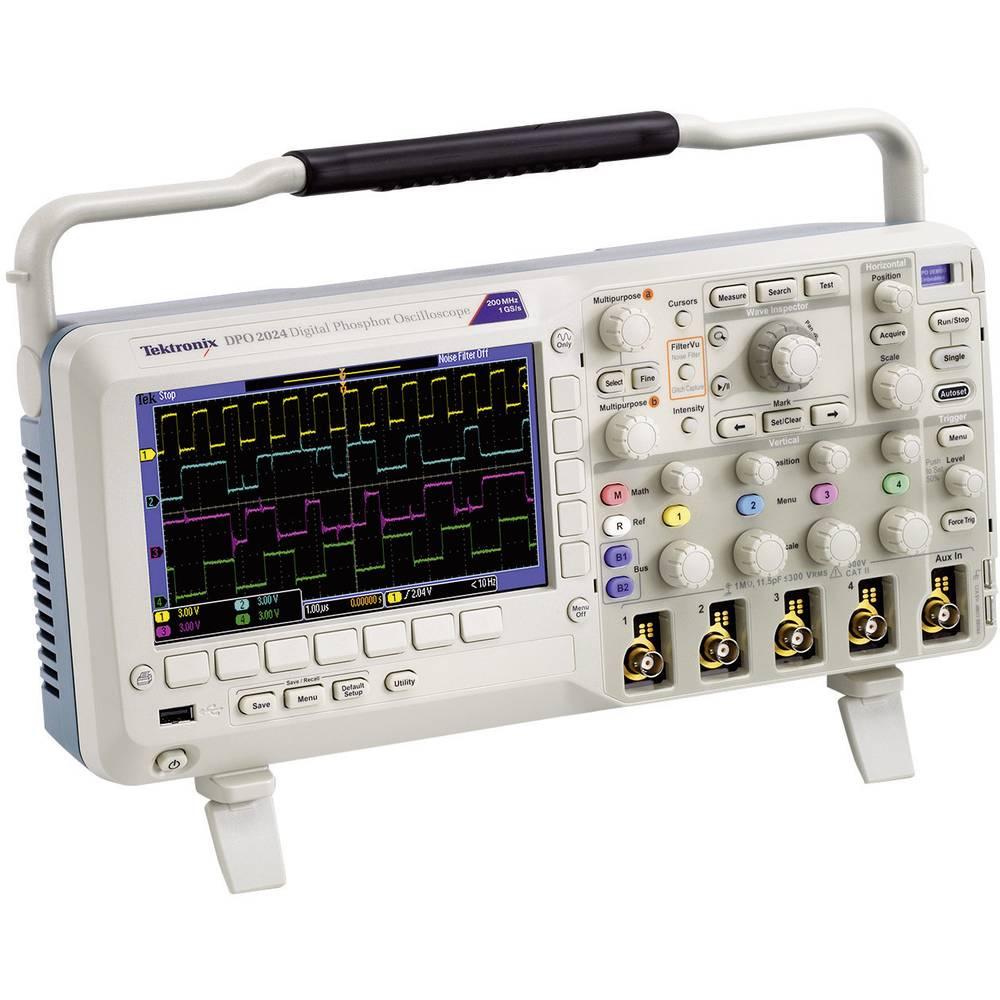 Digitalni osciloskop Tektronix DPO2024B 200 MHz 4-kanalni 1 GSa/s 1 Mpts 8 Bit digitalni pomnilnik (DSO)