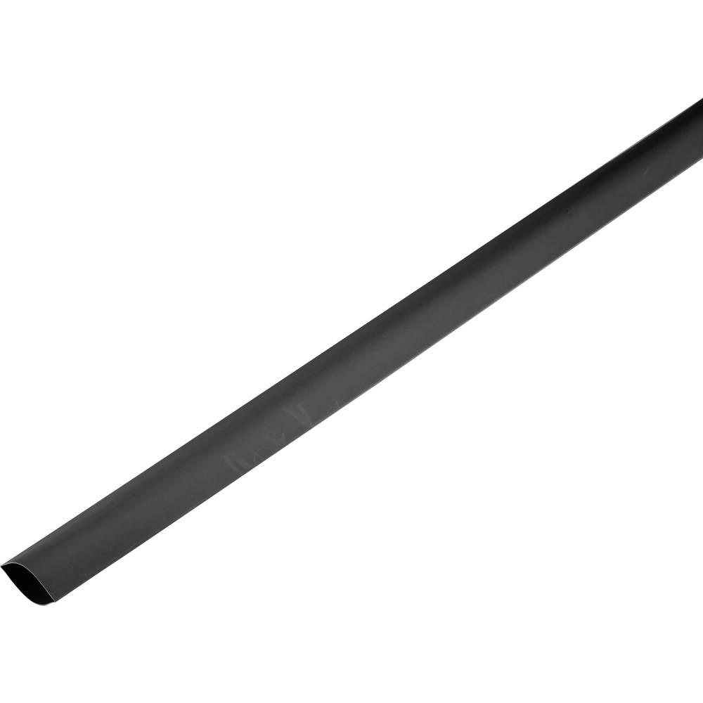 Skrčljiva cev, tankostenska pred/po krčenju: 120 mm/60 mm razmerje 2 : 1 črna