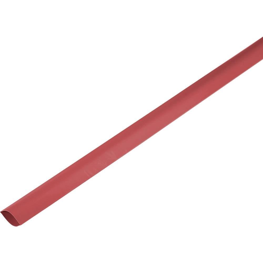 Skrčljiva cev, tankostenska pred/po krčenju: 150 mm/75 mm razmerje 2 : 1 rdeča