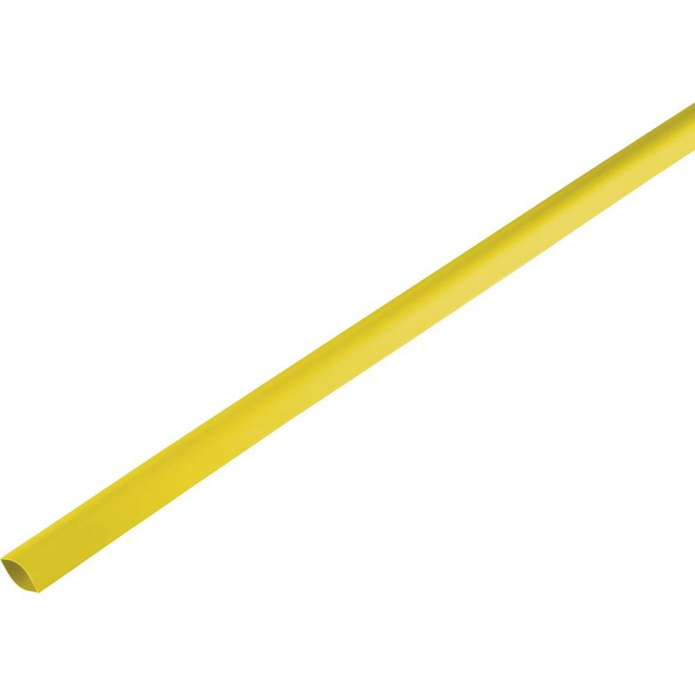 Skrčljiva cev, tankostenska pred/po krčenju: 16.7 mm/8 mm razmerje 2 : 1 rumena