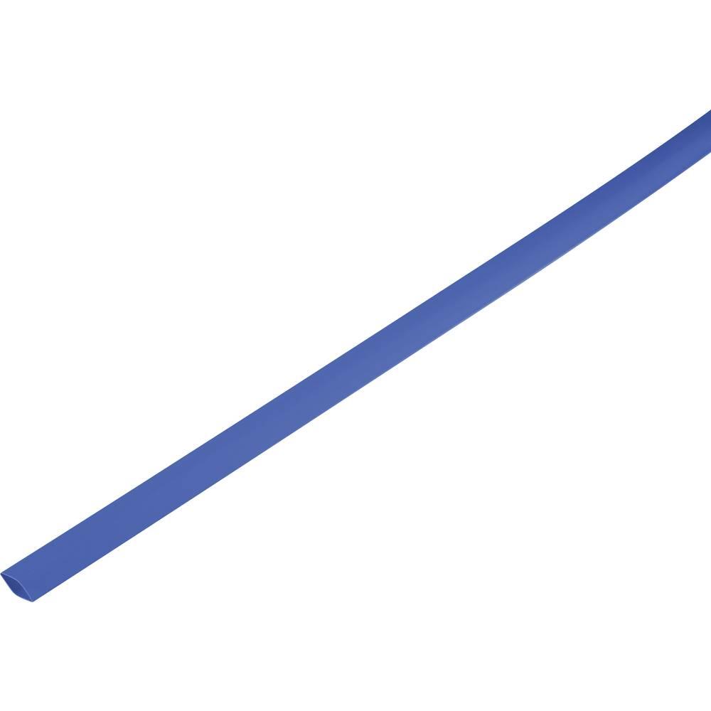 Skrčljiva cev, tankostenska pred/po krčenju: 12.7 mm/6 mm razmerje 2 : 1 modra
