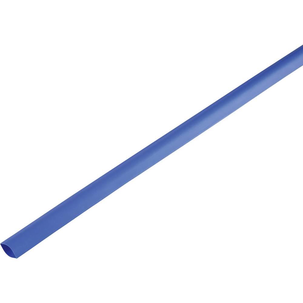 Skrčljiva cev, tankostenska pred/po krčenju: 16.7 mm/8 mm razmerje 2 : 1 modra