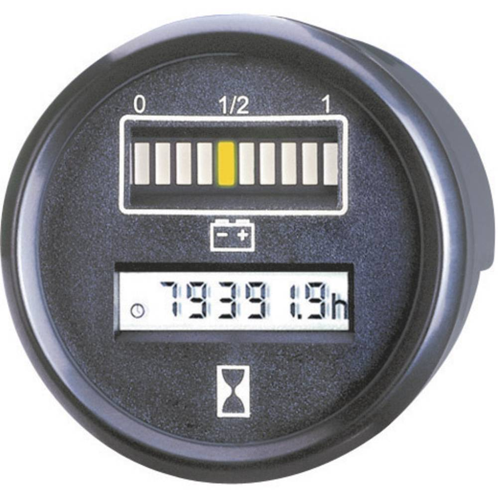 Bauser Kontrolnik akumulatorai vremena 830.1, 24 V 0-99.999,9 h dimenzija Ĺ 52 mm 830 24VDC