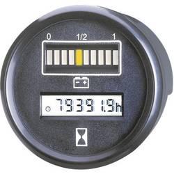 Bauser kontrolnik akumulatorja in časa 830.1, 24 V 0-99.999,9 h vgradne mere 52 mm 830 24VDC