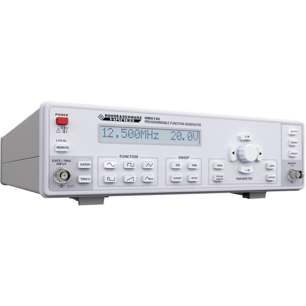 Rohde & Schwarz HM8150 daljinski arbitrarni funkcijski generator 0.01 Hz - 12.5 MHz izhodni signal: sinusni, pravokotni, trikotn