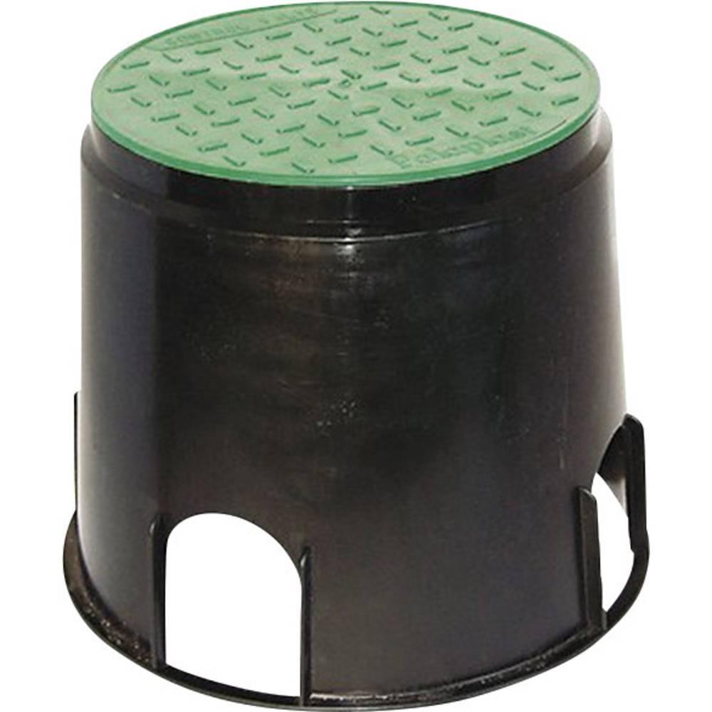 Heitronic 21036 Talna vgradna doza 168/200 mm črne barve, zelene barve