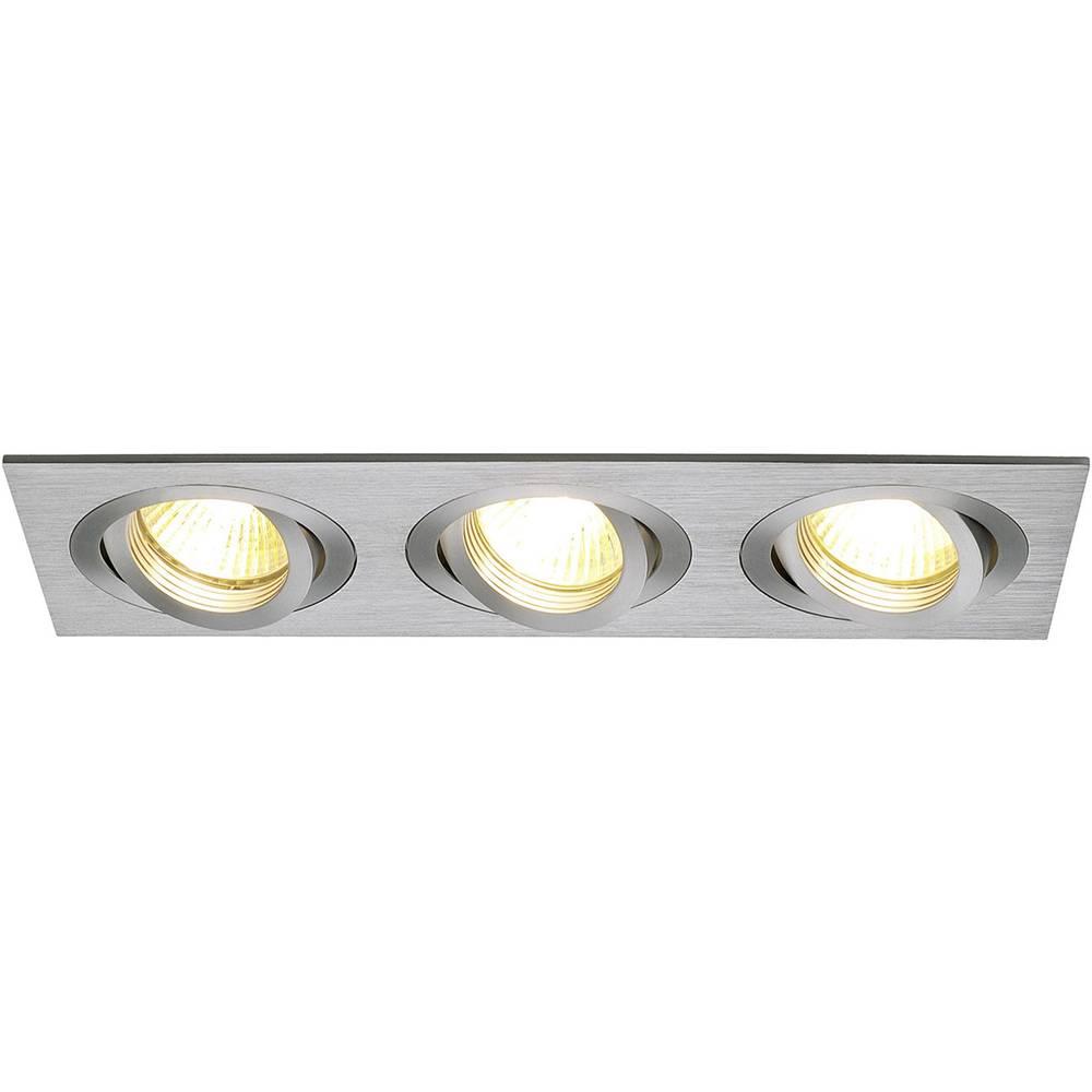 Vgradna stropna svetilka SLV New Tria III, GU10, aluminij (krtačen), 111363
