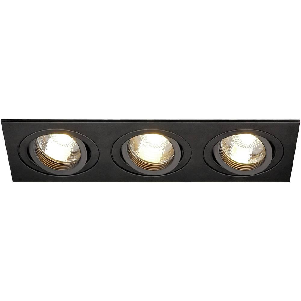 Vgradna stropna svetilka SLV New Tria III, GU10, črne barve, 113493
