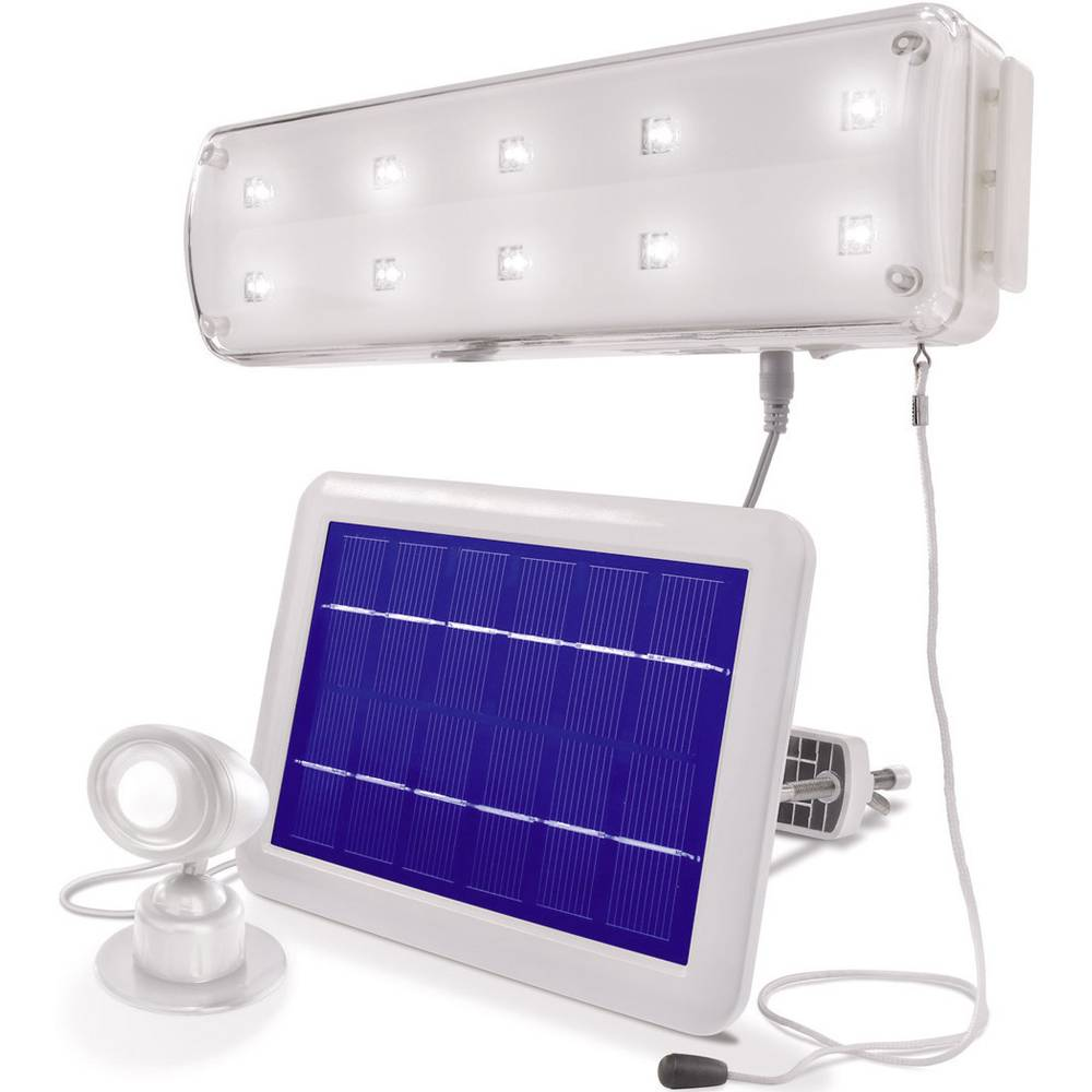 Solarni stenski LED-reflektor Esotec, hladna bela svetloba, bela