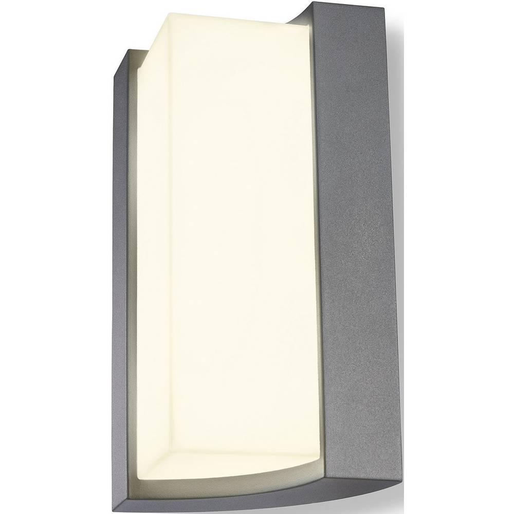 LED zunanja stenska svetilka 8 W topla bela Esotec Tirano 201135 srebrno-siva