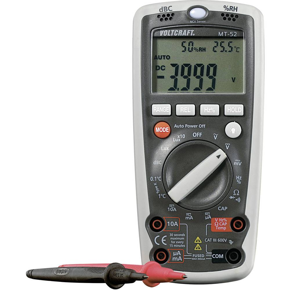 Hånd-multimeter VOLTCRAFT MT-52 Fabriksstandard CAT III 600 V