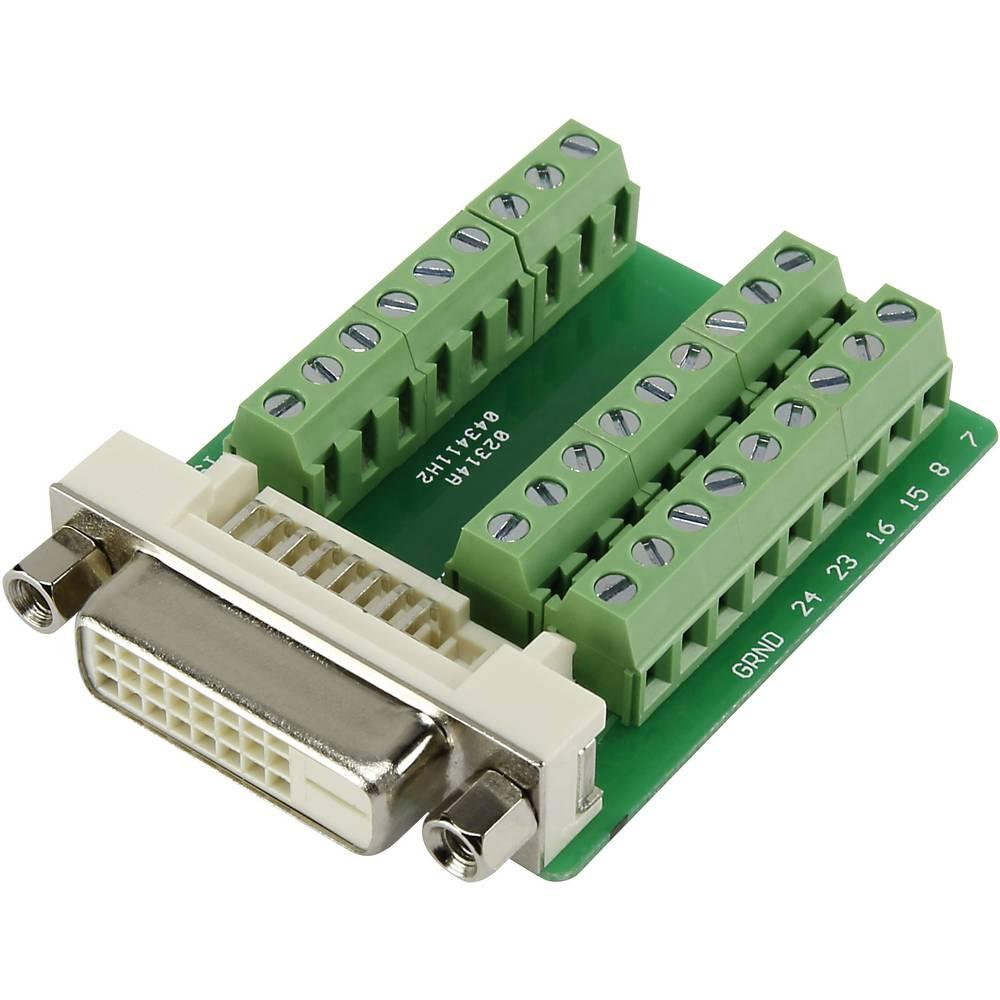 DVI-vtični konektor za vtičnico, vgraden horizontalen število polov: 24 srebrne barve DVI24FT3.81 1 kos