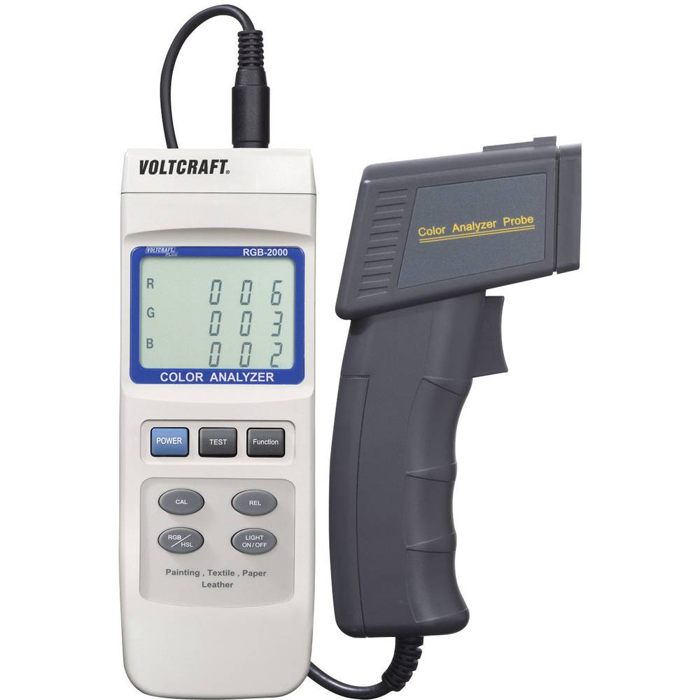 VOLTCRAFT® RGB-2000 analizator barve kalibriran po tovarniškem standardu
