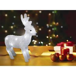 Božična figura, severni jelen, akril LED, Polarlite LBA-52-005, beli