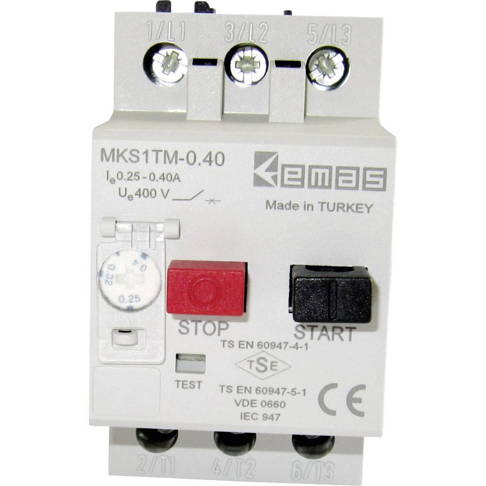Stikalo za zaščito motorja 400 V/AC 0.4 A EMAS MKS1TM-0.40 1 kos