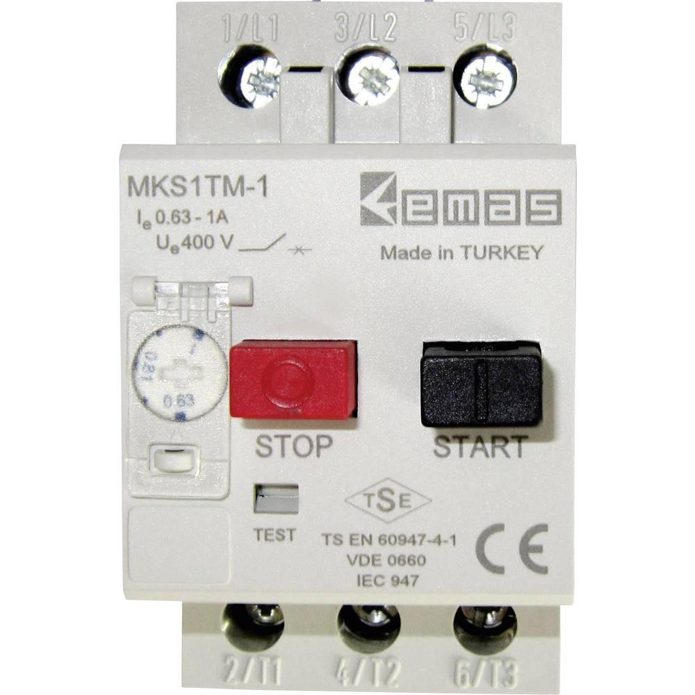 Stikalo za zaščito motorja 400 V/AC 1.0 A EMAS MKS1TM-1 1 kos